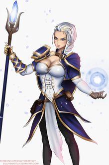 Фото Lady Jaina Proudmoore / Леди Джайна Праудмур - персонаж игры World of Warcraft, by eollynart