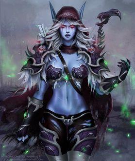 Фото Sylvanas Windrunner / Сильвана Ветрокрылая - персонаж игры World of Warcraft, by eollynart