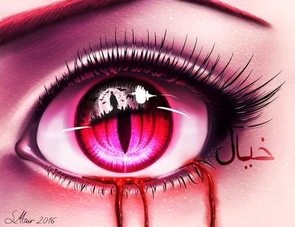 Фото Глаз с кровавыми слезами, by SuiroAtair
