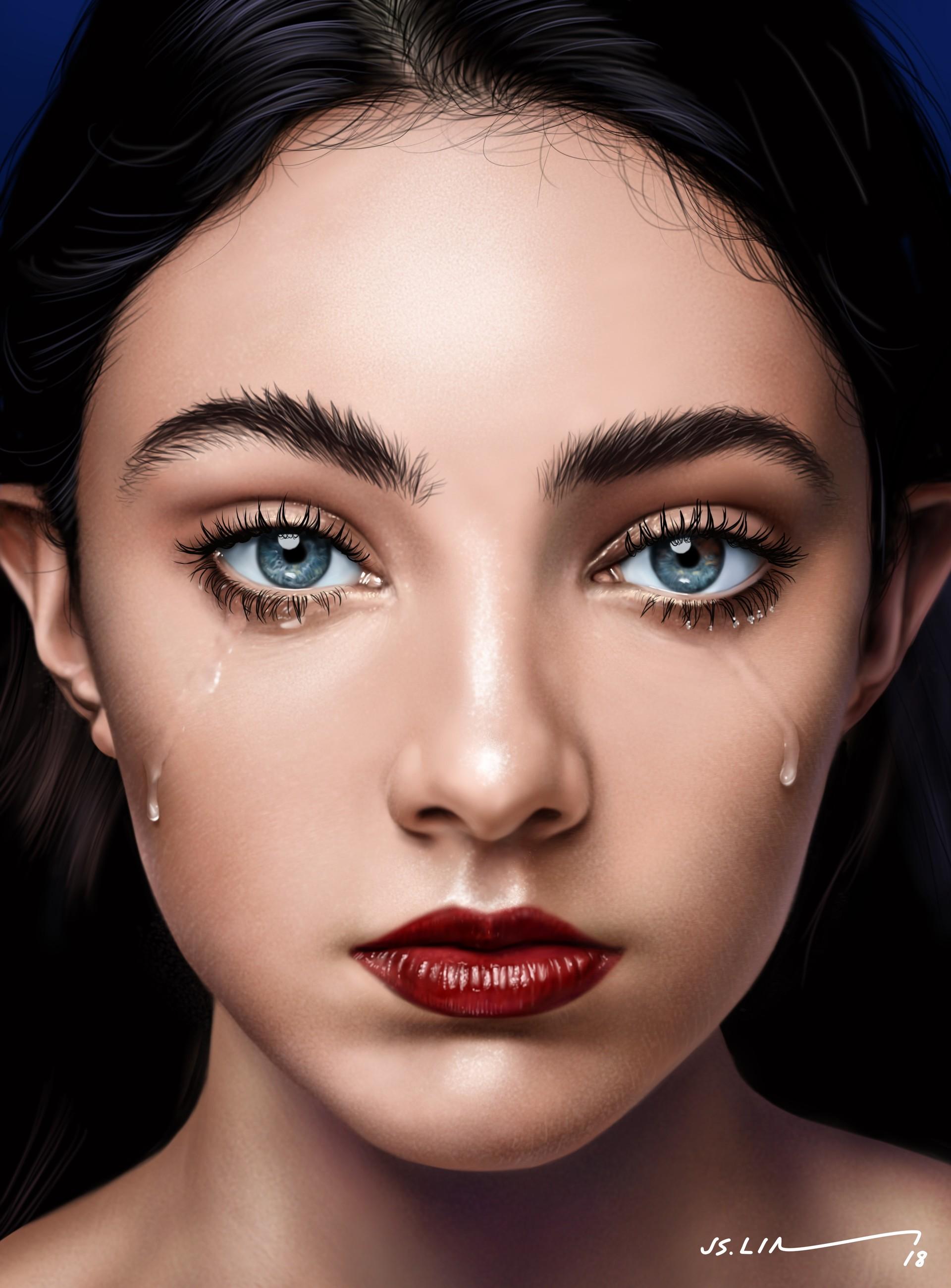 Фото Девушка со слезами на лице, by Jinsung Lim
