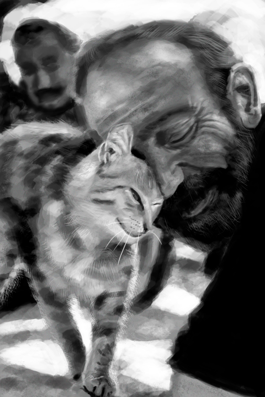 Фото Мужчина с кошкой, by Yuichi Ito