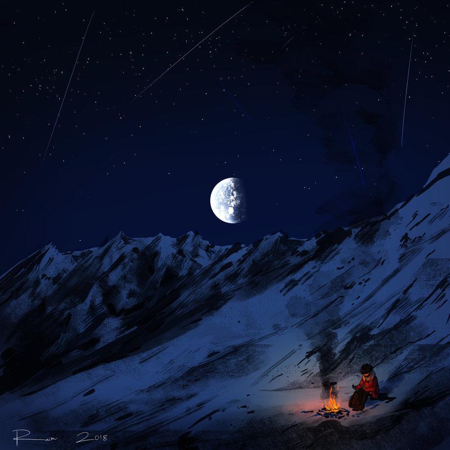 секс ночью в горах