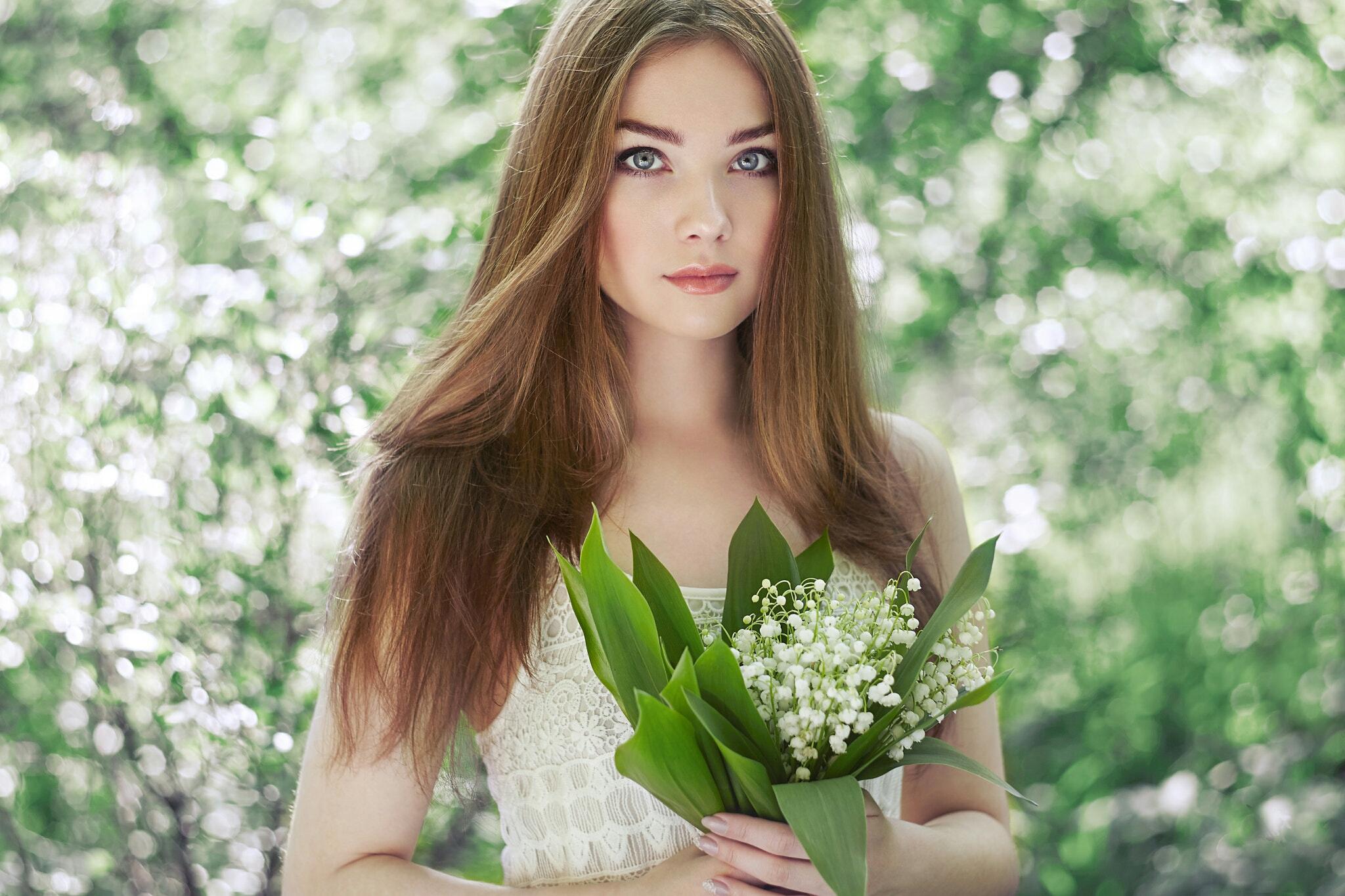 Звездочка, открытки с фото девушки