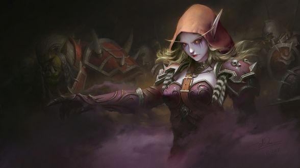 Фото Sylvanas Windrunner / Сильвана Ветрокрылая - персонаж игры World of Warcraft, by Dao Le Trong