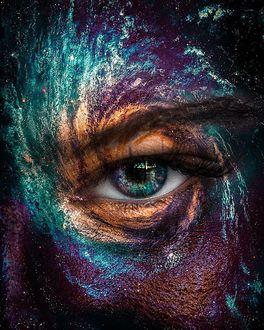 Фото Лицо девушки с фантастическим макияжем, фотограф Sergey Muzlov