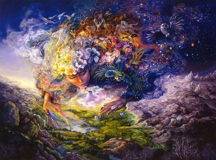 Фото Остара - богиня Весны над землей, художник Josephine Wall