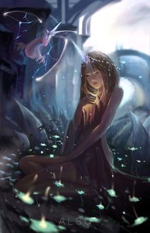 Фото Принцесса единорога со светящейся магией в руке, by AL SO