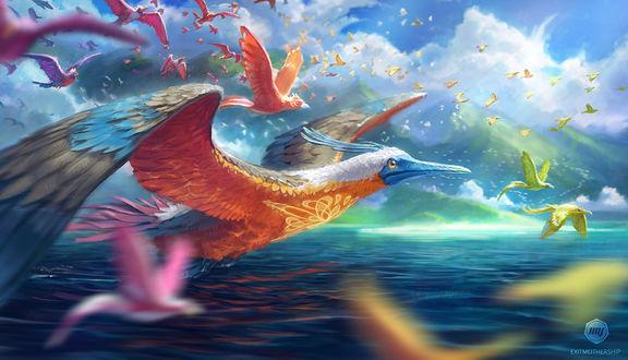 Фото Птицы в полете над морем, by ExitMothership
