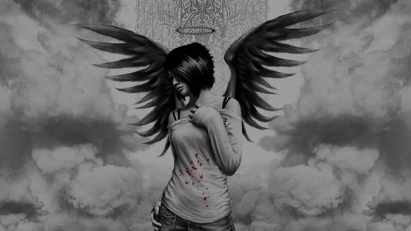 Фото Девушка с крыльями