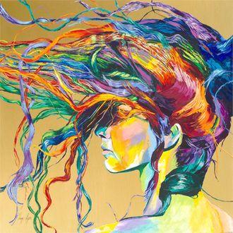 Фото Девушка с разноцветными волосами