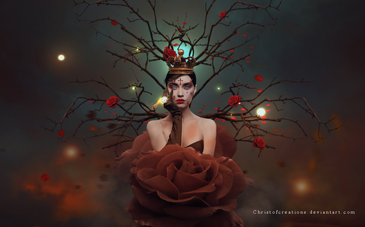 Фото Девушка в образе королевы роз, by ChristofCreations