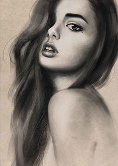 Фото Портрет девушки с длинными волосами, by MaggieParvanova