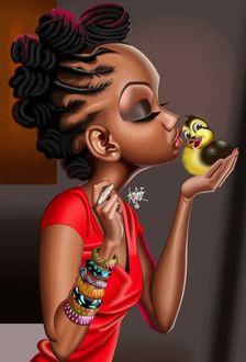 Рисунки негритянка