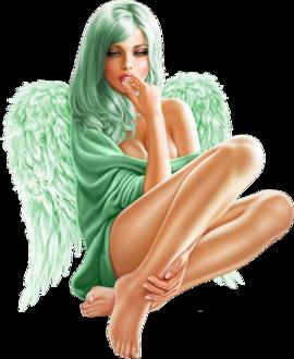 Фото Красивая девушка-милашка с крыльями