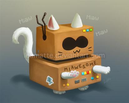 Фото Котенок в костюме робота AWESOM-O из мультфильма Южный Парк, by leamatte (Miaw)