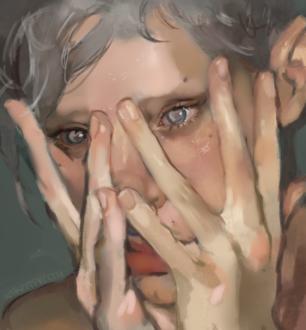 Фото Парень держит руки у лица, by ntrppttprfctm