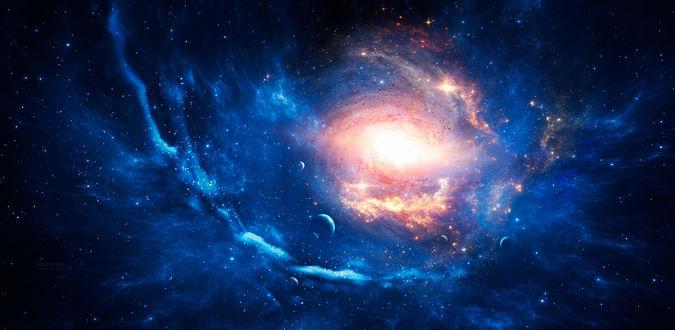 Фото Розовое свечение в космическом пространстве, by Ellysiumn