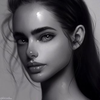 Фото Черно-белый портрет девушки, by Julia Razumova