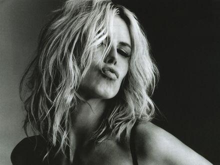 Фото Модель Heidi Klum / Хайди Клум с эмоциональным выражением лица