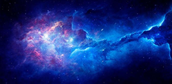 Фото Космическое пространство в сине голубых тонах, by Ellysiumn Art