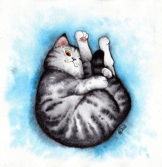 Фото Полосатый котенок, by Alliot-art