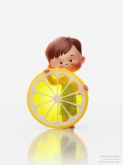 Фото Мальчик с кружком лимона, by Nazar Noschenko
