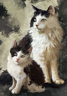 Фото Кошка со своим котенком, by FleetingEmber
