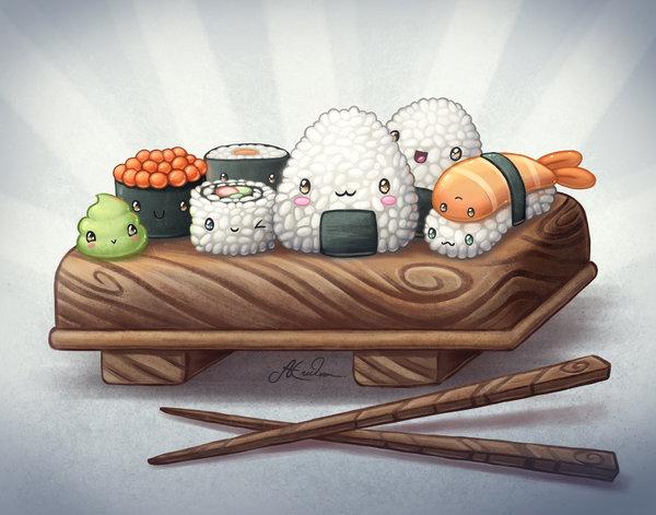 Прикольные рисунки суши