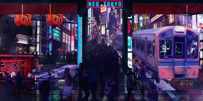 Фото Люди на станции в Токио, Япония, by SeerLight (NeoTokyo)