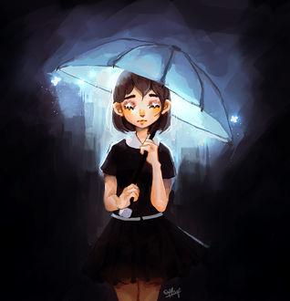 Фото Девочка под зонтом, by wafflerp