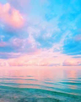 Фото Вечернее небо над морем