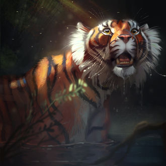 Фото Тигр в воде, by TehChan