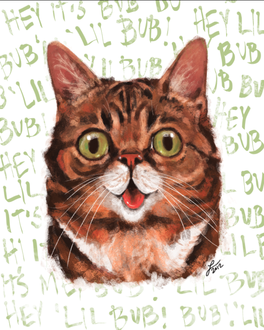 Фото Зеленоглазый полосатый кот (Lil Bub), by lindsayvdw