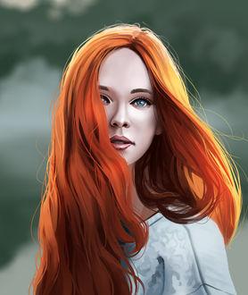 Фото Девушка с рыжими волосами, by Andy Gruning
