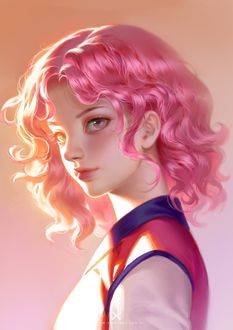 Фото Девушка с розовыми волосами, by Star Academy