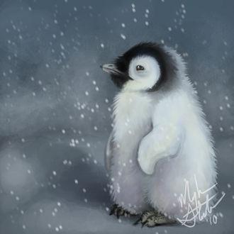 Фото Пингвиненок под снегопадом, by nooby-banana