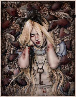 Фото Американская певица, музыкант, актриса и фотомодель Тейлор Момсен / Taylor Momsen в образе Алисы, by EnysGuerrero
