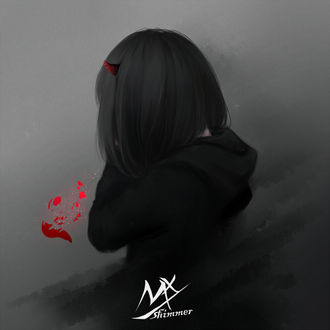 Фото Темноволосая девушка-демон и разбитое сердце, by shimmer
