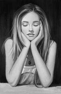 Фото Девушка с закрытыми глазами, by Justb1aze