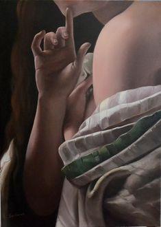 Фото Девушка держит руку у лица, Nadia Sanchenko