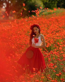 Фото Девушка на маковом поле, by bulavina