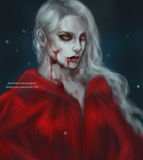 Фото Белокурая вампирша в красном плаще, by NanFe
