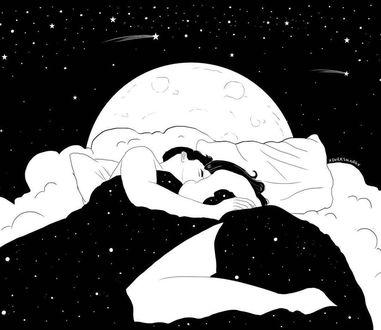 Фото Влюбленные спят на постели, by Henn Kim