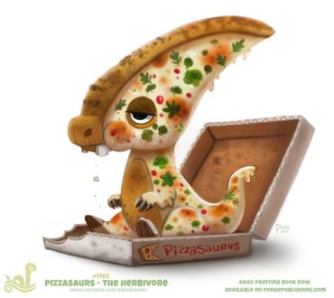 Фото Пицца динозаврик в коробке (Pizzasaurus), by Cryptid-Creations