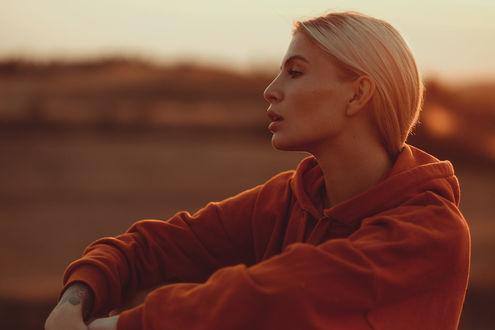 Фото Девушка - блондинка в профиль. Фотограф Andreas Weise