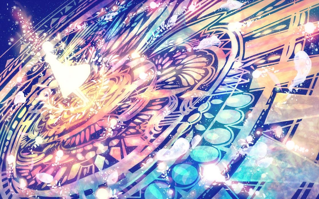 Фото Силуэт девушки, стоящей в магическим круге, by bounin