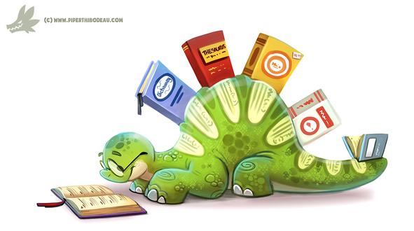 Фото Динозаврик с книжками, by Cryptid-Creations