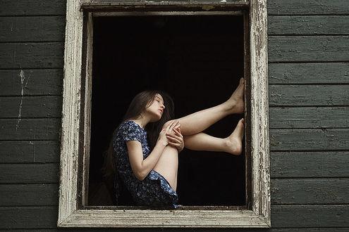 Фото Модель Валерия в окне, фотограф Alexandra Bochkareva