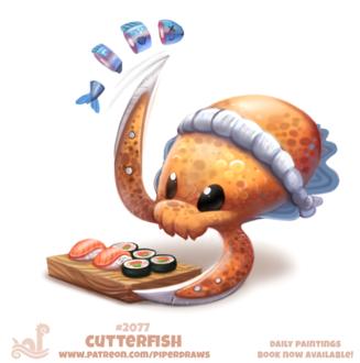 Фото Осьминожек готовит суши, by Cryptid-Creations