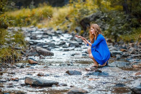 Фото Модель Яна у речки. Фотограф Махиня Любовь